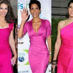Las celebrities con vestidos fucsia 2011