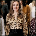 El look animal print de Doña Letizia