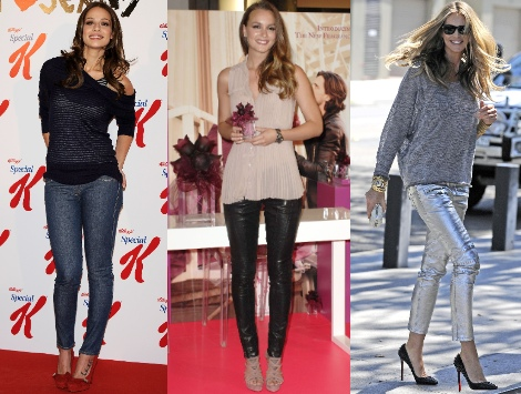 pantalones grises azules y negros tendencia 2012 3 mujeres